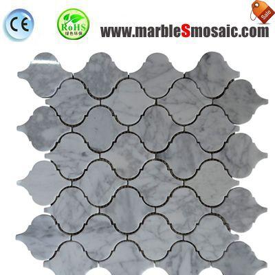 Bianco Carrara Arabesque Mosaic Tile