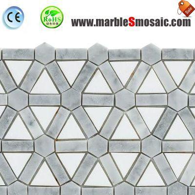 Bianco Carrara Marble Brick Bathroom Mosaic