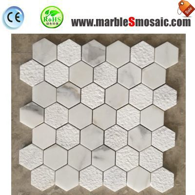 Bianco White Marble Mosaic Tile Floor