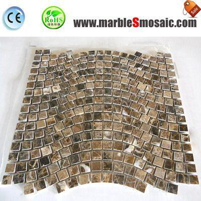 Coffee Marble Brick Mosaic Wall Tiles