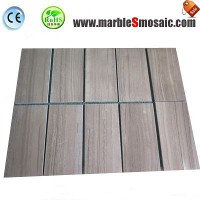 Coffee Wood Marble Floor Tile