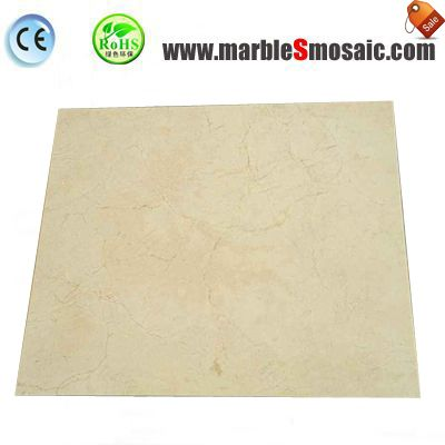 Crema Marfil Marble Tile Bathroom