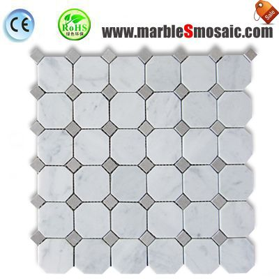 Octagon Marble Mosaic Bathroom Tiles