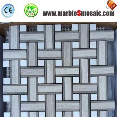 Chine de mosaïque en marbre bois tressé