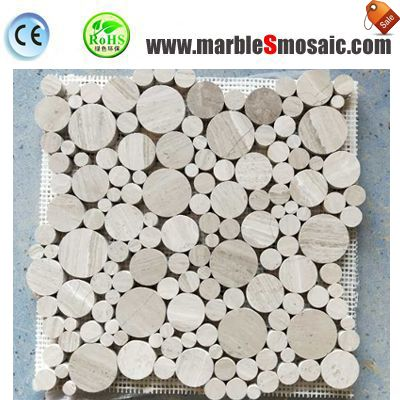 Bathroom Wooden Marble Mosaic Wall Tile