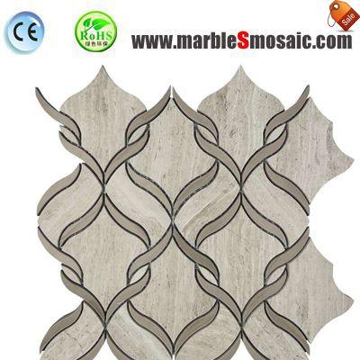 Indoor-Bäder mit Marmor Mosaik Fliesen