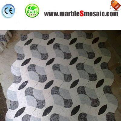 Blue 3D Marble Mosaic Tile Floor
