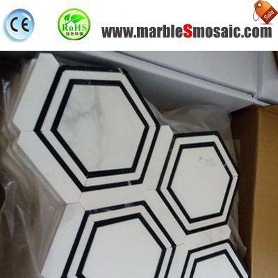 Composite Marble Mosaic Stone Floor Tile