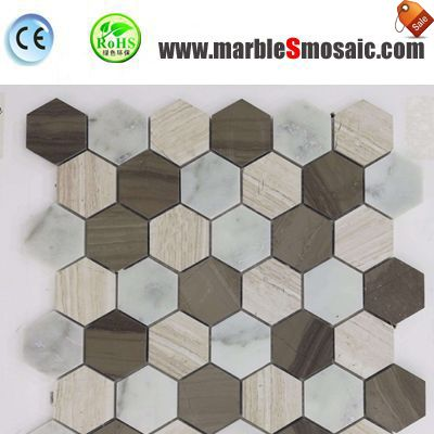 Hexagon Marble Mosaic Stone Bathroom Tiles