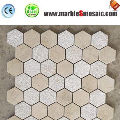 Hexagon Natural Stone Mosaic Cladding