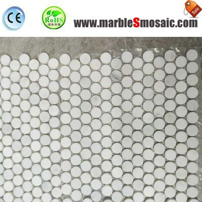 Penny Round Marble Mosaic For Shower Floor