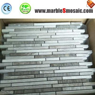 Polish Strip Mosaic Marble Tiles Bathrooms