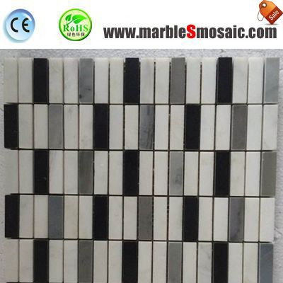 Strip Marble Mosaic Tile For Bathroom Floor