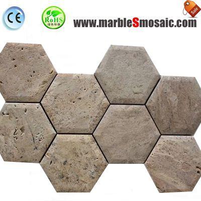 Travertine Stone Mosaic Bathroom Tiles