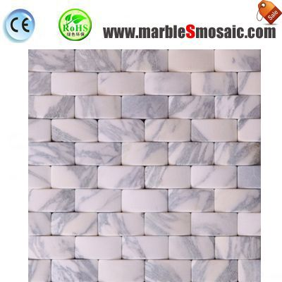 White Marble Effect Mosaic Tiles