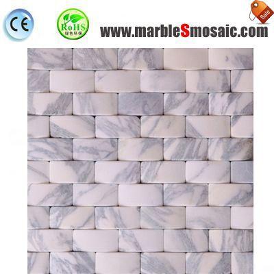 Мозаичная плитка белого мрамора эффект