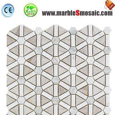 White Marble Mosaic Tile For Shower Floor
