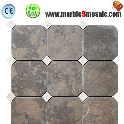 Antique Brown Marble Mosaic Tile