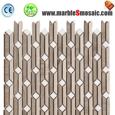 Bamboo Joint Wood Marble Mosaic Tile