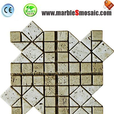Beige Travertine Mosaic Wall Tile