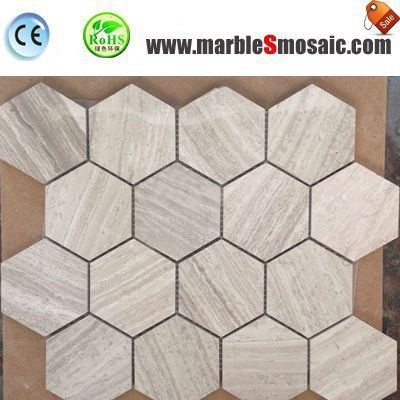 China Wood Marble Mosaic Hexagon