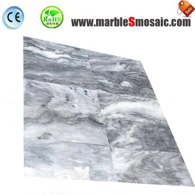 Cloudy Grey Marble Wall Tile