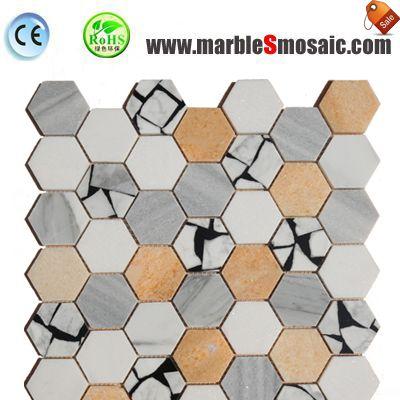 Colorful Hexagon China Marble Mosaic