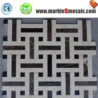 Cross Net Beige Marble And Stone Mosaic