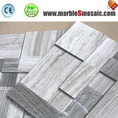 Graue hölzerne hohe niedrige Marmor-Mosaik