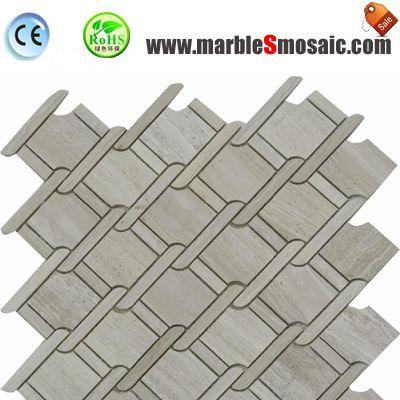 Гуйчжоу древесины мраморная мозаичная плитка Net