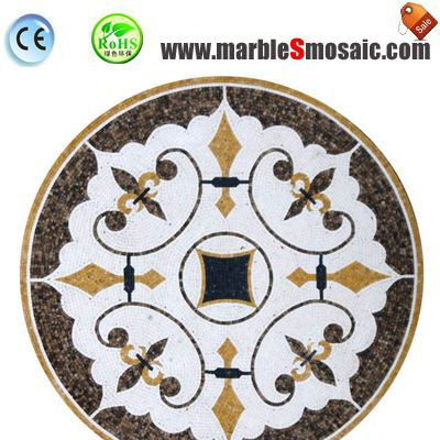 Hotel Floor Water Jet Stone Mosaic Pave
