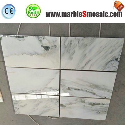 Landscape White Marble Floor Tiles
