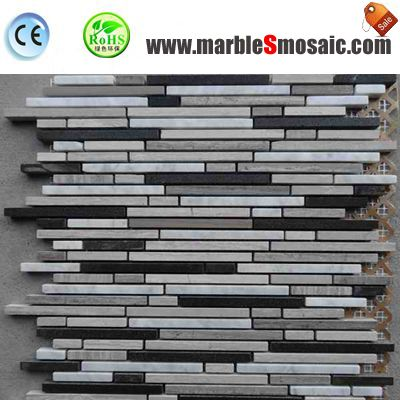 Strip Stone Mosaic Marble Wall Tiles