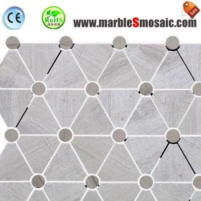 Dreieck grau Marmor Mosaik-Badezimmer