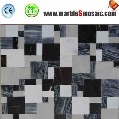 Bricks Marble Mosaic Bathroom Wall