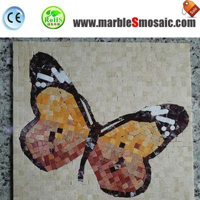 Butterfly Marble Mosaic Medallion
