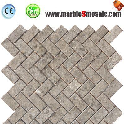 Grey Mosaic Marble Bathroom Wall