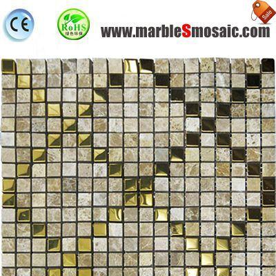 Marble Metal Mosaic Wall Tile