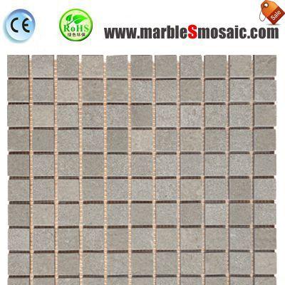 Square Bricks Grey Marble Mosaic Bath