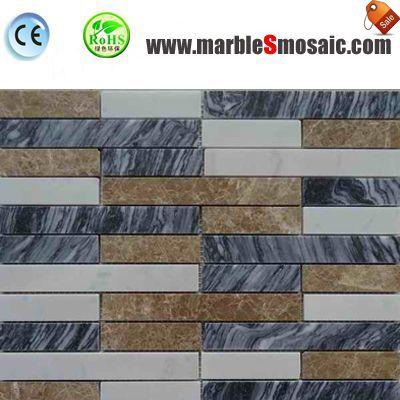 Streifen-Marmor-Mosaik für Duschboden