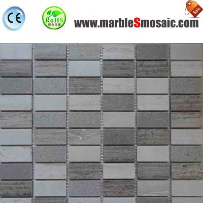 Wood Marble Mosaic Bathroom Tiles