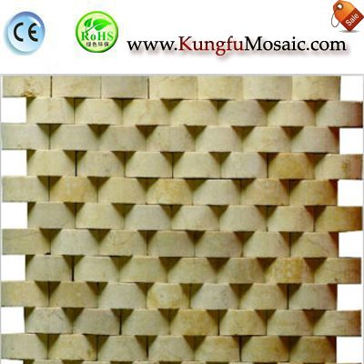 Beige Marble Mosaic Panel Wall M3d0034