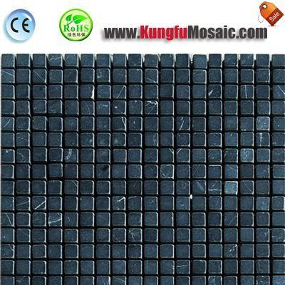 Dark Green vert marbre mosaïque carré MSM0022