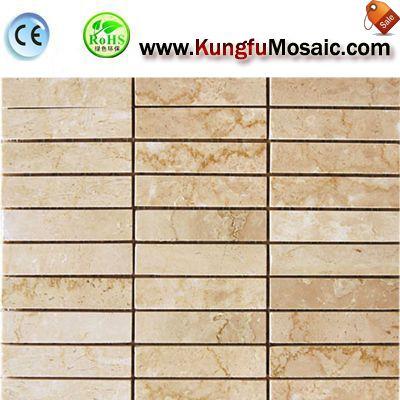 Galala Beige Marble Mosaic Floor
