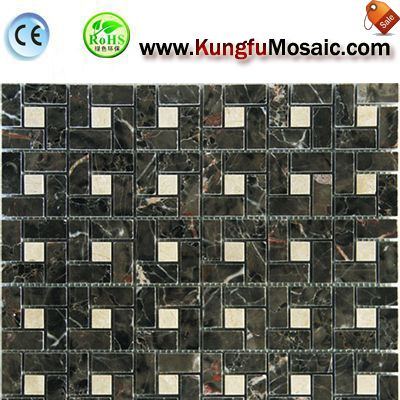 Irregular Grey Marble Mosaic Floor Tile