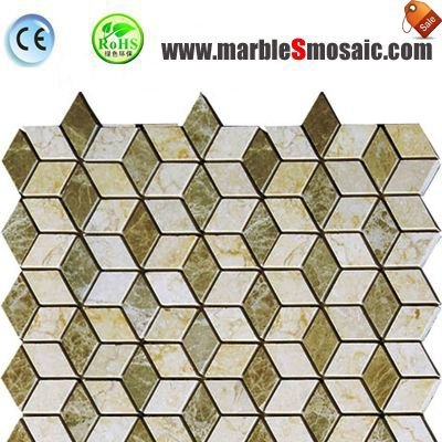 Light Beige 3D Marble Mosaic Bathroom