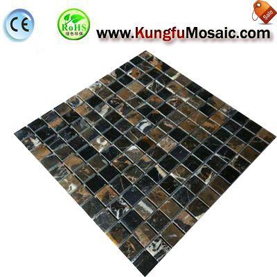 Мраморная мозаика плитка MSM0023 Portoro золото