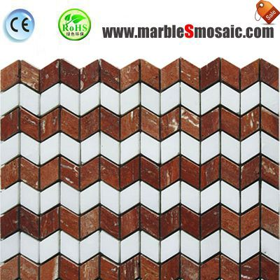 White And Red Marble Mosaic China
