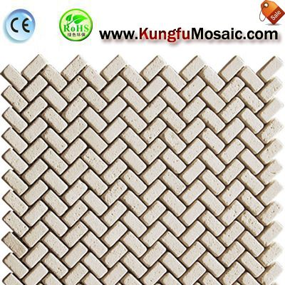 Beige Mosaic Marble Wall Tiles