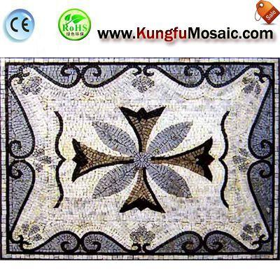 Blue Floor Water Jet Marble Mosaic